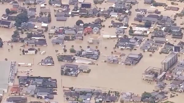 Powodzie w Japonii  - Sputnik Polska