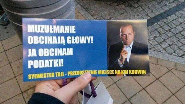 Muzulmanie obcinają głowy - Ja obcinam podatki. Sylwester Tajl - Sputnik Polska