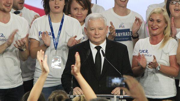 Były premier Jarosław Kaczyński po zwycięstwie w wyborach w Polsce - Sputnik Polska