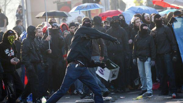 Protesty we Frankfurcie nad Menem - Sputnik Polska