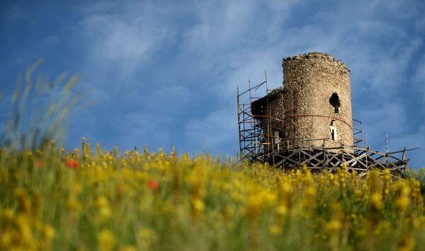 Вид на башню Генуэзской крепости в Балаклаве - Sputnik Polska