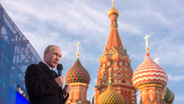 Władimir Putin podczas koncertu w Moskwie18 marca 2015 - Sputnik Polska