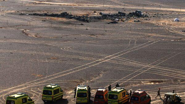 Miejsce katastrofy rosyjskiego samolotu Airbus A321 w Egipcie - Sputnik Polska