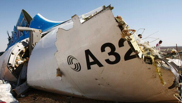 Fragment rosyjskiego samolotu pasażerskiego A321 - Sputnik Polska