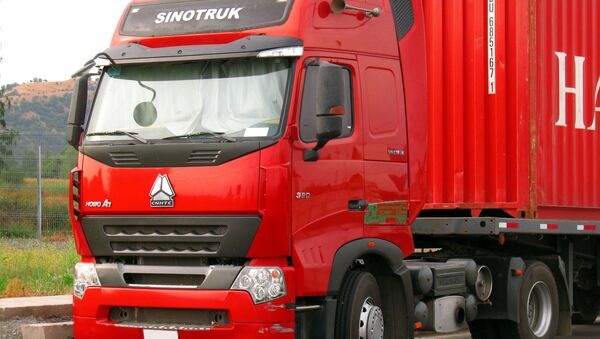 Ciężarówka marki HOWO - Sputnik Polska