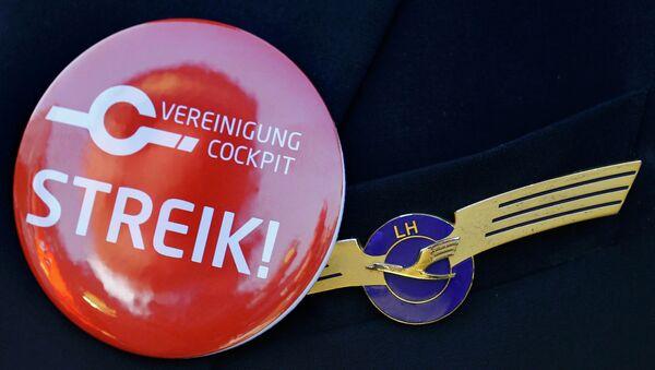 Strajk Lufthansa 30 listopada 2014 roku - Sputnik Polska