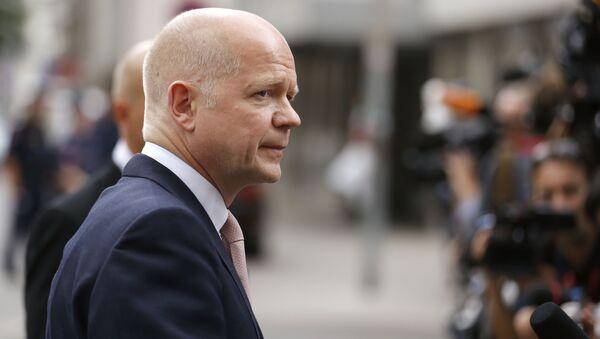 Były Minister Spraw Zagranicznych Wielkiej Brytanii i lider Partii Konserwatywnej William Hague - Sputnik Polska