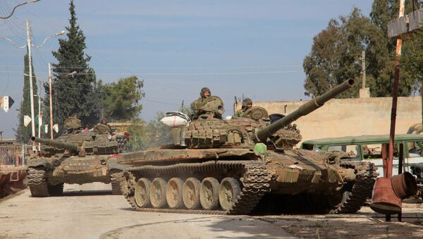 Syryjska armia w Aleppo - Sputnik Polska