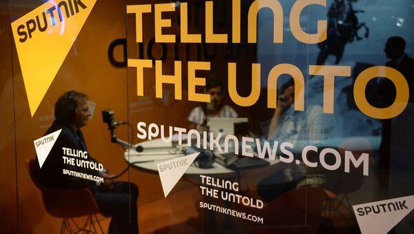 Studio Sputnika na Petersburskim Międzynarodowym Forum Gospodarczym-2015 - Sputnik Polska