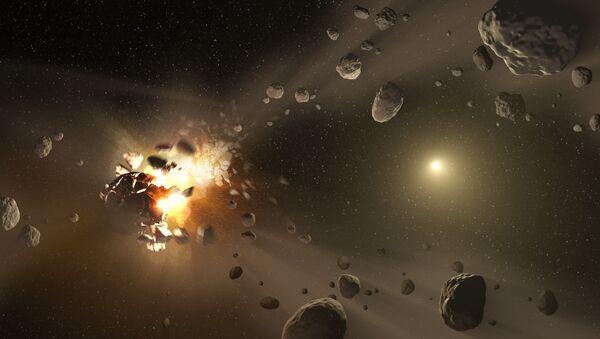 Eksplozja asteroidy, zdjęcie NASA - Sputnik Polska