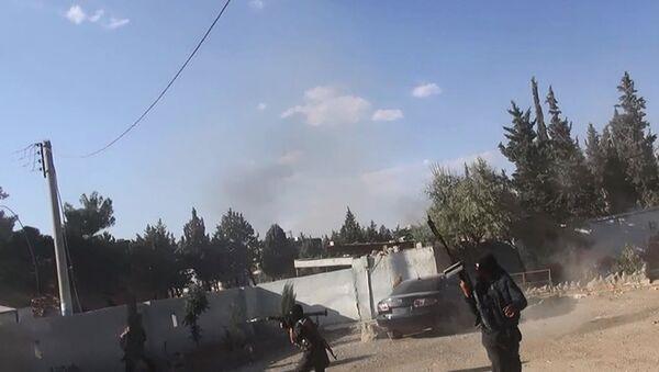 Bojownicy Państwa Islamskiego w mieście Kobane, Syria - Sputnik Polska
