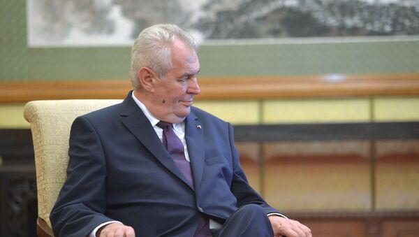 Prezydent Czech Milosz Zeman - Sputnik Polska