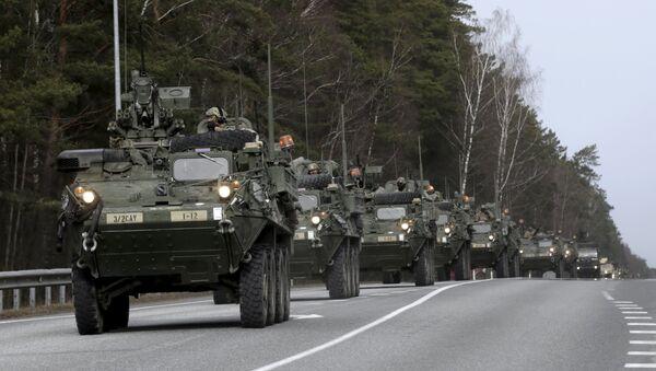 Żołnierze amerykańskiej armii podczas operacji Atlantic Resolve w Estonii - Sputnik Polska