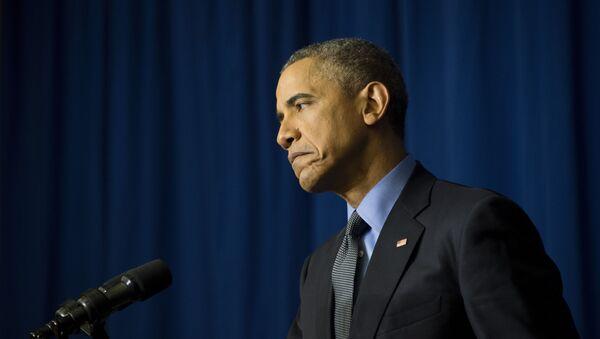 Barack Obama na konferencji prasowej w Paryżu - Sputnik Polska