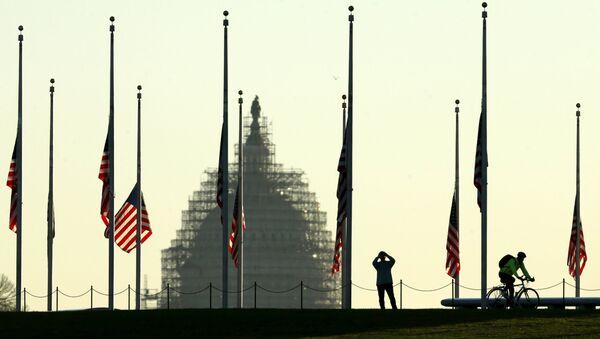Widok na budynek Kongresu USA - Sputnik Polska