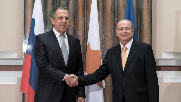 Minister spraw zagranicznych Rosji Siergiej Ławrow i minister spraw zagranicznych Cypru Ioannis Kasoulides w Nikozji - Sputnik Polska