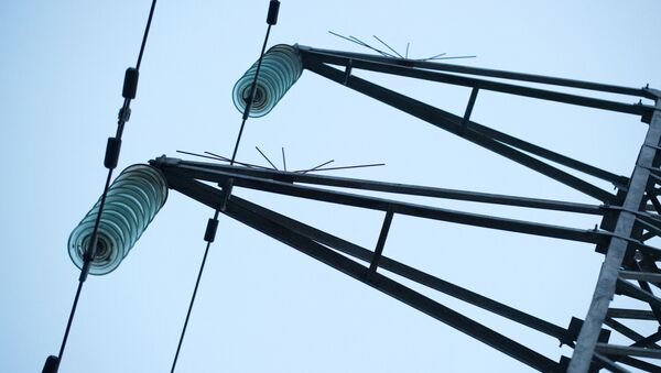 Nieaktywne linie wysokiego napięcia w Symferopolu - Sputnik Polska