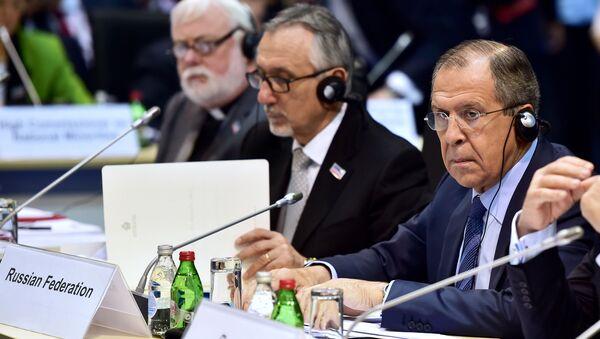 Minister spraw zagranicznych Rosji Siergiej Ławrow na posiedzeniu Rady Ministerialnej OBWE w Belgradzie - Sputnik Polska