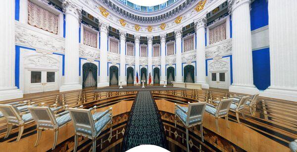 Sala Jekateryninska Pałacu Senackiego w Kremlu - Sputnik Polska