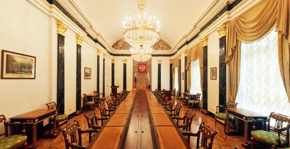 Sala konferencyjna Rady Bezpieczeństwa Pałacu Senackiego w Kremlu - Sputnik Polska