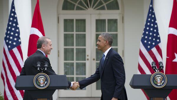 Barack Obama i Recep Tayyip Erdogan - Sputnik Polska