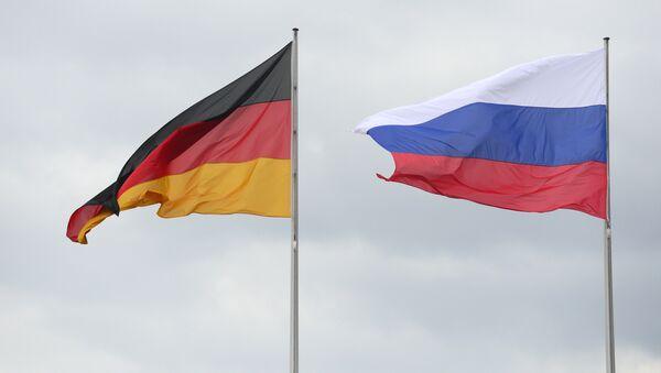 Flagi Niemiec i Rosji - Sputnik Polska