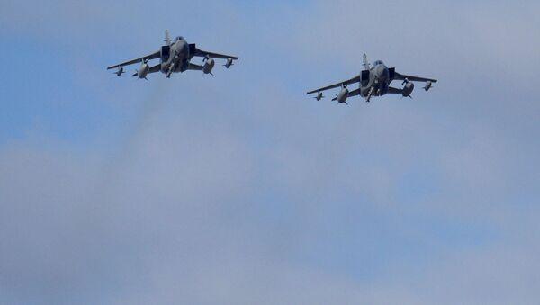 Samoloty Tornado brytyjskich sił powietrznych w pobliżu brytyjskiej bazy lotniczej RAF Akrotiri na wyspie Cypr - Sputnik Polska