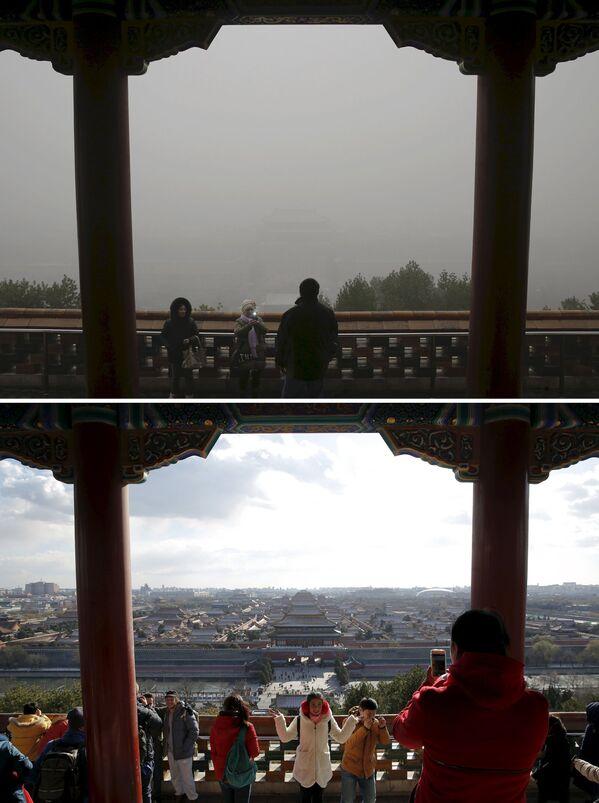 Zakazane Miasto przed i po smogu w Chinach - Sputnik Polska