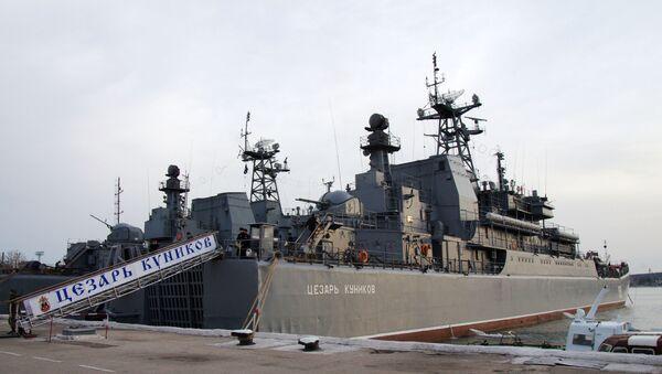 Okręt Cezar Kunikow w Sewastopolu - Sputnik Polska