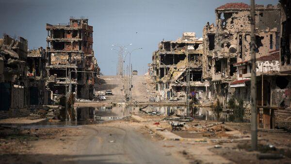 Ruiny domów w Syrcie, Libia - Sputnik Polska