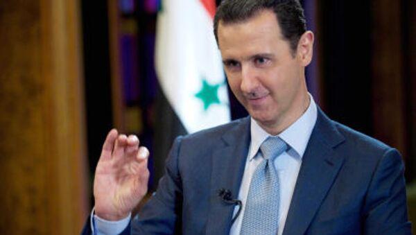 Prezydent Syrii Baszar al-Asad podczas wywiadu BBC w Damaszku - Sputnik Polska