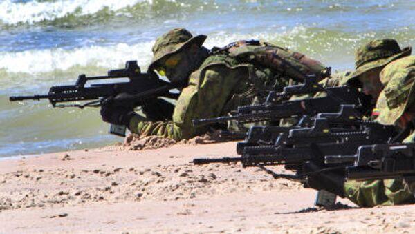Litewscy żołnierze uczestniczą w ćwiczeniach BALTOPS 2012 - Sputnik Polska