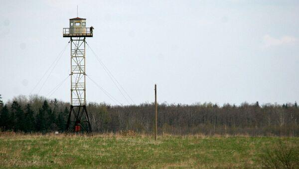 Wieża na rosyjsko-łotewskiej granicy - Sputnik Polska