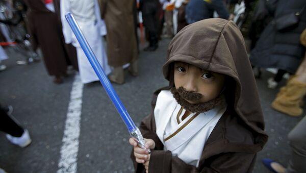 Uczestnik Halloween-parady w Japonii - Sputnik Polska