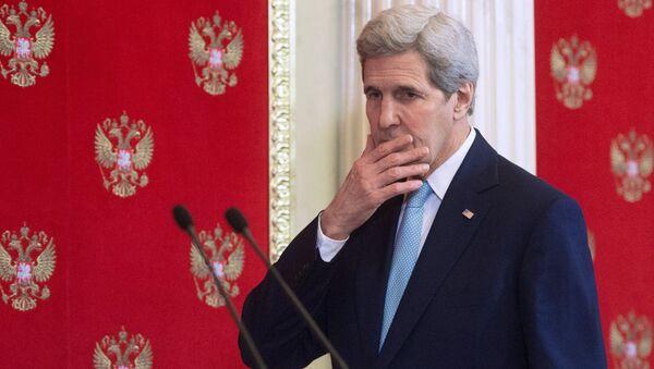 Sekretarz stanu USA John Kerry podczas wizyty w Moskwie - Sputnik Polska