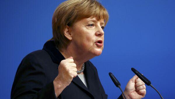 Angela Merkel w Karlsruhe - Sputnik Polska
