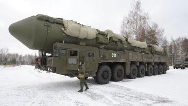 Mobilny system wyrzutni rakiet Jars w obwodzie iwanowskim - Sputnik Polska