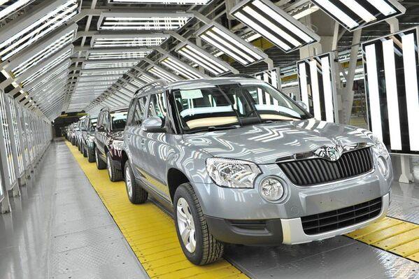 Linia produkcyjna samochodu Skoda Yeti w Gorkowskiej Fabryce Samochodów (GAZ) w Niżnym Nowogrodzie. - Sputnik Polska