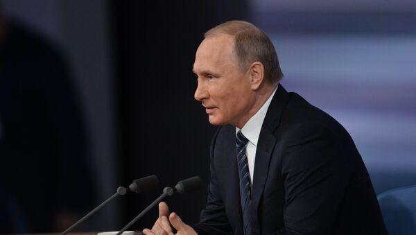Jahrespressekonferenz von Russlands Präsident Wladimir Putin - Sputnik Polska