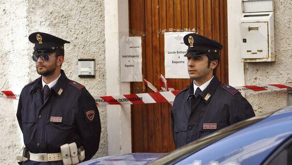 Włoscy policjanci na Sycylii - Sputnik Polska