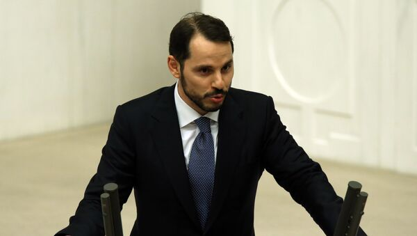 Minister energetyki i zasobów naturalnych Berat Albayrak - Sputnik Polska