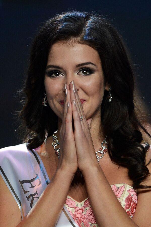 Finalistka narodowego konkursu Miss Rosja 2015 Sofia Nikitczuk na scenie sali koncertowej Barvikha Concert Hall - Sputnik Polska