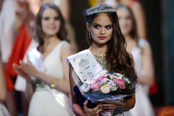 Pierwsza wicemiss narodowego konkursu Miss Rosja 2015 na scenie sali koncertowej Barvikha Concert Hall - Sputnik Polska
