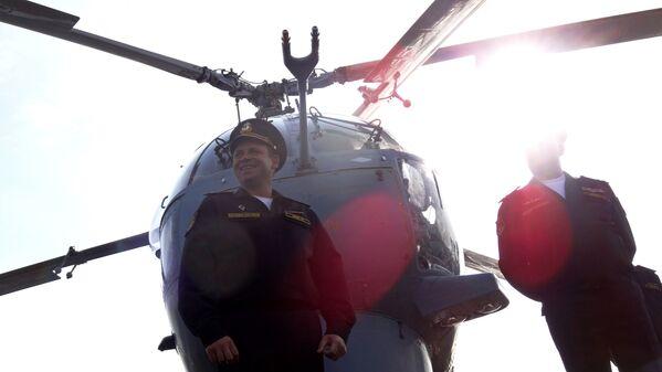 Kapitan I rangi rosyjskiego krązownika Moskwa Aleksandr Szwarc - Sputnik Polska