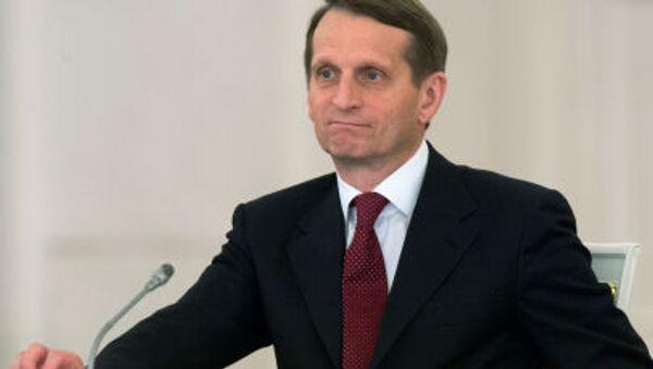Marszałek Dumy Siergiej Naryszkin - Sputnik Polska