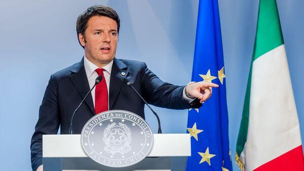 Премьер-министр Италии Маттео Ренци - Sputnik Polska