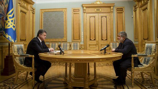 Prezydent Ukrainy Petro Poroszenko i Ihor Kołomojski - Sputnik Polska
