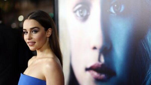 Aktorka Emilia Clarke przybyła na premierę trzeciego sezonu serialu Gra o tron - Sputnik Polska