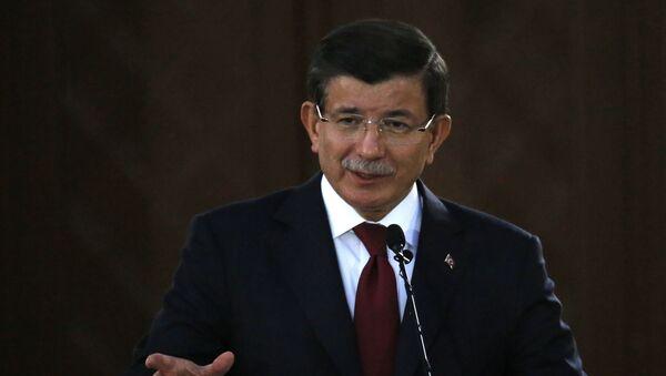 Premier Turcji Ahmet Davutoglu - Sputnik Polska