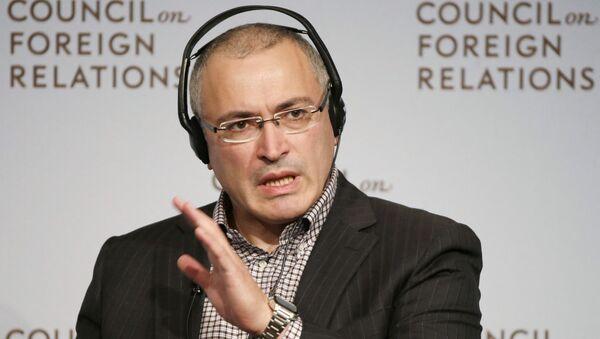 Przedsiębiorca Michaił Chodorkowski - Sputnik Polska